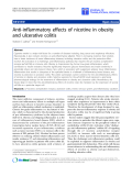 "báo cáo hóa học:"" Anti-inflammatory effects of nicotine in obesity and ulcerative colitis"""