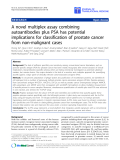 "báo cáo hóa học:"" A novel multiplex assay combining autoantibodies plus PSA has potential implications for classification of prostate cancer from non-malignant cases"""