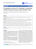 "báo cáo hóa học:"" Pro-apoptotic activity of a-bisabolol in preclinical models of primary human acute leukemia cells"""