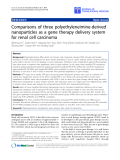 "báo cáo hóa học:""  Comparisons of three polyethyleneimine-derived nanoparticles as a gene therapy delivery system for renal cell carcinoma"""