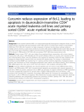"báo cáo hóa học:"" Curcumin reduces expression of Bcl-2, leading to apoptosis in daunorubicin-insensitive CD34+ acute myeloid leukemia cell lines and primary sorted CD34+ acute myeloid leukemia cells"""