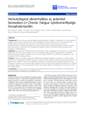 "báo cáo hóa học:""  Immunological abnormalities as potential biomarkers in Chronic Fatigue Syndrome/Myalgic Encephalomyelitis"""