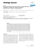 """báo cáo hóa học:""""  Biochemical prevention and treatment of viral infections – A new paradigm in medicine for infectious diseases"""""""