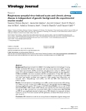 """báo cáo hóa học:""""  Respiratory syncytial virus-induced acute and chronic airway disease is independent of genetic background: An experimental murine model"""""""