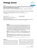 "báo cáo hóa học:"" Chromatography paper strip sampling of enteric adenoviruses type 40 and 41 positive stool specimens"""