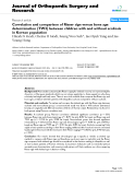 "báo cáo hóa học:""   Correlation and comparison of Risser sign versus bone age determination (TW3) between children with and without scoliosis in Korean population"""