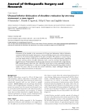 "báo cáo hóa học:""  Unusual inferior dislocation of shoulder: reduction by two-step maneuver: a case report"""