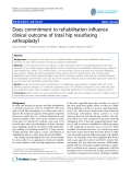 "báo cáo hóa học:""  Does commitment to rehabilitation influence clinical outcome of total hip resurfacing arthroplasty?"""