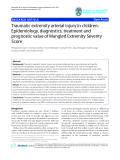 """báo cáo hóa học:""""  Traumatic extremity arterial injury in children: Epidemiology, diagnostics, treatment and prognostic value of Mangled Extremity Severity Score"""""""