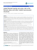 """báo cáo hóa học:""""  Lateral femoral traction pin entry: risk to the femoral artery and other medial neurovascular structures"""""""