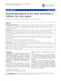 "báo cáo hóa học:""   Hemolymphangioma of the lower extremities in children: two case reports"""