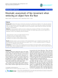 "báo cáo hóa học:""  Kinematic assessment of hip movement when retrieving an object from the floor"""