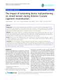 "báo cáo hóa học:""  The impact of tensioning device mal-positioning on strand tension during Anterior Cruciate Ligament reconstruction"""