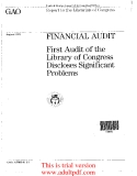 FINANCIAL AUDIT First Audit of the Library of Congress Discloses Significant Problems _part1