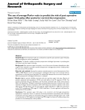 báo cáo hóa học:' The use of average Pavlov ratio to pr edict the risk of post operative upper limb palsy after posterior cervical decompressio""