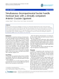 "báo cáo hóa học:""  Simultaneous bicompartmental bucket handle meniscal tears with a clinically competent Anterior Cruciate Ligament"""