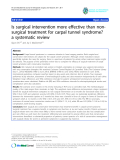 "báo cáo hóa học:""  Is surgical intervention more effective than nonsurgical treatment for carpal tunnel syndrome? a systematic review"""