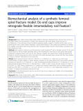 """báo cáo hóa học:""""  Biomechanical analysis of a synthetic femoral spiral fracture model: Do end caps improve retrograde flexible intramedullary nail fixation?"""""""