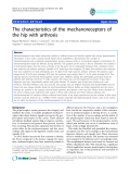 """báo cáo hóa học:""""  The characteristics of the mechanoreceptors of the hip with arthrosis"""""""