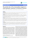 "báo cáo hóa học:""  The pivotal role of the intermediate fragment in initial operative treatment of olecranon fractures"""