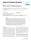 """báo cáo hóa học:""""   Mucins in ovarian cancer diagnosis and therapy"""""""