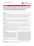 "báo cáo hóa học:""   Mural granulosa cell gene expression associated with oocyte developmental competence"""