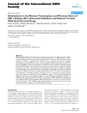 """báo cáo hóa học:""""  Substitutions in the Reverse Transcriptase and Protease Genes of HIV-1 Subtype B in Untreated Individuals and Patients Treated With Antiretroviral Drugs"""""""