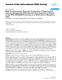 """báo cáo hóa học:""""  Brief Communication: Economic Comparison of Opportunistic Infection Management With Antiretroviral Treatment in People Living With HIV/AIDS Presenting at an NGO Clinic in Bangalore, India"""""""