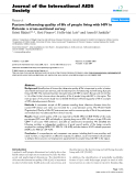 "báo cáo hóa học:"" Factors influencing quality of life of people living with HIV in Estonia: a cross-sectional survey"""