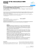 "báo cáo hóa học:"" Survey of physician knowledge regarding antiretroviral medications in hospitalized HIV-infected patients"""