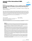 """báo cáo hóa học:""""  Putting episodic disability into context: a qualitative study exploring factors that influence disability experienced by adults living with HIV/AIDS"""""""