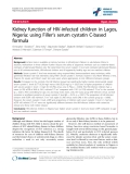 "báo cáo hóa học:""  Kidney function of HIV-infected children in Lagos, Nigeria: using Filler's serum cystatin C-based formula"""