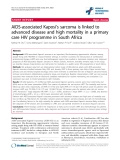 "báo cáo hóa học:"" AIDS-associated Kaposi's sarcoma is linked to advanced disease and high mortality in a primary care HIV programme in South Africa"""