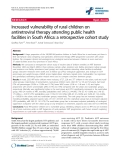 """báo cáo hóa học:"""" Increased vulnerability of rural children on antiretroviral therapy attending public health facilities in South Africa: a retrospective cohort study"""""""