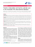 """báo cáo hóa học:""""  Trends in detectable viral load by calendar year in the Australian HIV observational database"""""""