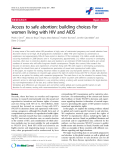 "báo cáo hóa học:""  Access to safe abortion: building choices for women living with HIV and AIDS"""