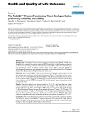 """báo cáo hóa học:"""" The PedsQL™ Present Functioning Visual Analogue Scales: preliminary reliability and validity"""""""
