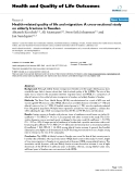 "báo cáo hóa học:"" Health-related quality of life and migration: A cross-sectional study on elderly Iranians in Sweden"""