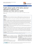 """báo cáo hóa học:""""Health-related quality of life before planned admission to intensive care: memory over three and six months"""""""