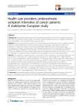 "báo cáo hóa học:"" Health care providers underestimate symptom intensities of cancer patients: A multicenter European study"""