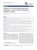 "báo cáo hóa học:"" Validation of the Rasch-based Depression Screening in a large scale German general population sample"""