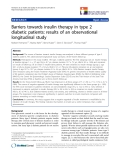 "báo cáo hóa học:""Barriers towards insulin therapy in type 2 diabetic patients: results of an observational longitudinal study"""