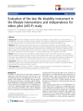 "báo cáo hóa học:""  Evaluation of the late life disability instrument in the lifestyle interventions and independence for elders pilot (LIFE-P) study"""
