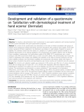 """báo cáo hóa học:""""  Development and validation of a questionnaire on 'Satisfaction with dermatological treatment of hand eczema' (DermaSat)"""""""