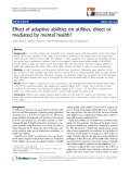 "báo cáo hóa học:"" Effect of adaptive abilities on utilities, direct or mediated by mental health?"""