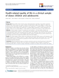 """báo cáo hóa học:""""  Health-related quality of life in a clinical sample of obese children and adolescents"""""""