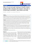 "báo cáo hóa học:"" Effect of neck strength training on health-related quality of life in females with chronic neck pain: a randomized controlled 1-year follow-up study"""