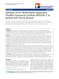 """báo cáo hóa học:"""" Validation of the """"World Health Organization Disability Assessment Schedule, WHODAS-2"""" in patients with chronic diseases"""""""