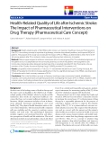 """báo cáo hóa học:"""" Health-Related Quality of Life after Ischemic Stroke: The Impact of Pharmaceutical Interventions on Drug Therapy (Pharmaceutical Care Concept)"""""""