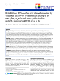 "báo cáo hóa học:""  Reliability of 95% confidence interval revealed by expected quality-of-life scores: an example of nasopharyngeal carcinoma patients after radiotherapy using EORTC QLQ-C 30"""